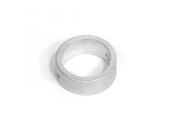 Anhänger aus Aluminium RING, gebürstet, auswechselbar, mit Loch, verschiedene Größen - 1 Stück