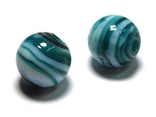 Glasperlen, Wickelperlen AELLA 14mm smaragdgrün 1 Stück