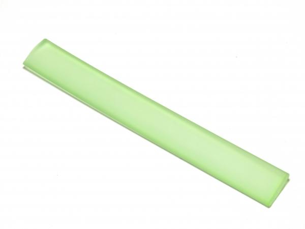 Kautschukband, flaches PVC-Band, 10x2mm, hellgrün - Länge 10cm