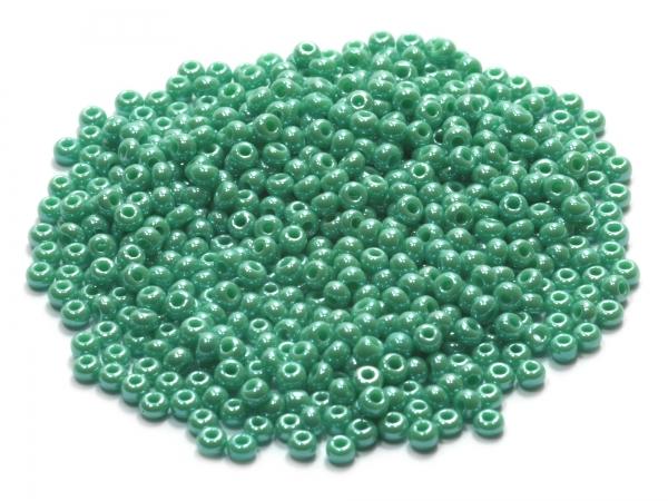 Rocailles, Böhmen, jungle green opak, Ø ca.2,1mm, 50g