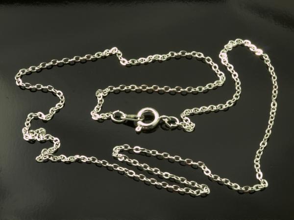 Gliederkette,Halskette ARIK, hellsilbern, 45 cm