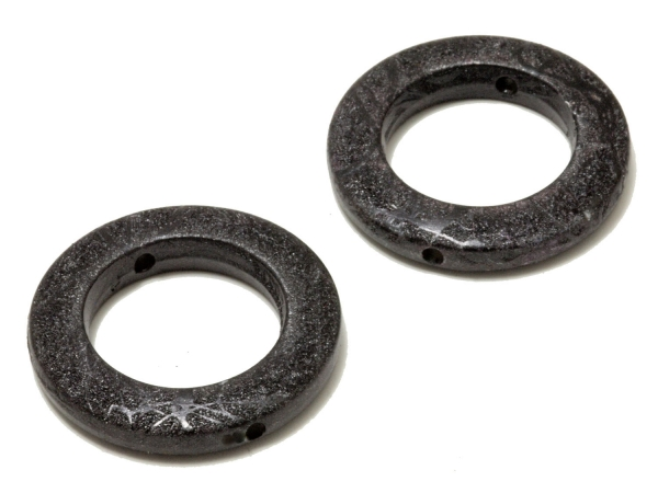 Kunststoff-Ringe, TOYA, schwarz, 34 mm - 1 Stück