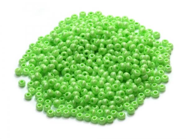 Rocailles, Böhmen, spring green opak, Ø ca.2,1mm, 50g