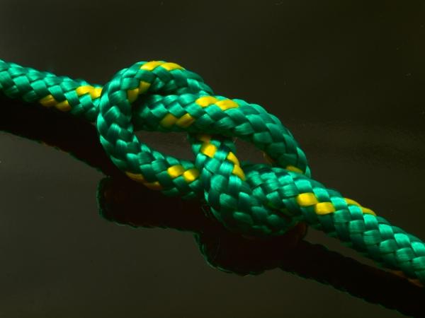 Segelseil AMARIN 5mm smaragdgrün-gelb 1m