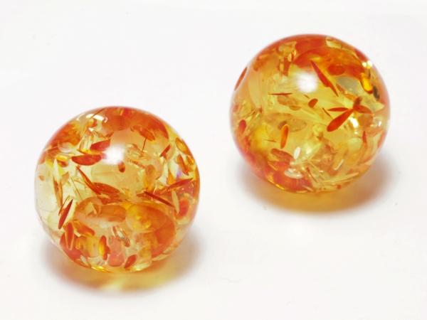 Acrylperlen, SIRIUS, 16mm, orange