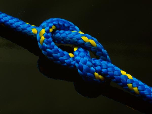Segelseil AMARIN 5mm blau-gelb 1m