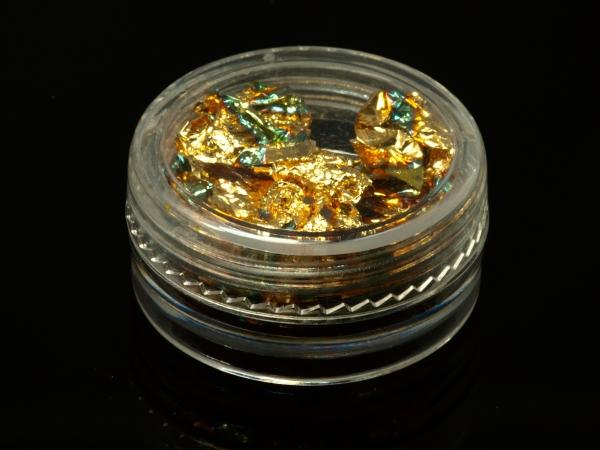 Filler, Goldfolie, 4,3 g reicht für mehrere Hohlkugeln