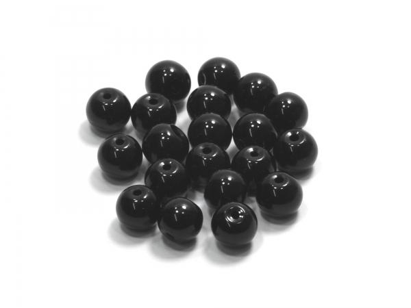 Glasperlen KADRI schwarz 8 mm - 40 Stück