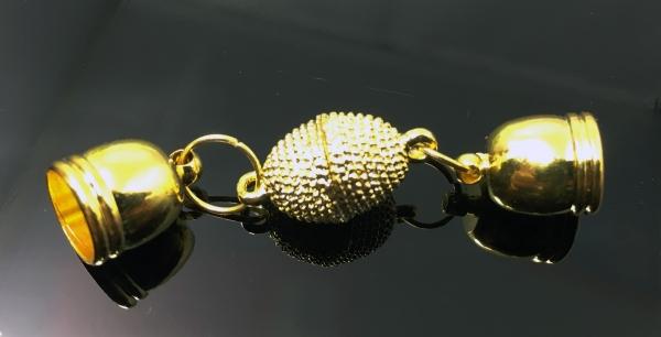 Verschluss-Set Roxas-LOIC, Endkappen innen 8 mm, golden