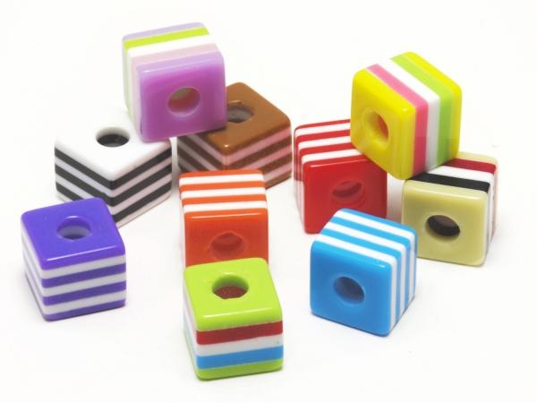 Acrylperlen, Kinderperlen, AMELIE, Mix, 9x10 mm, 10 Stück